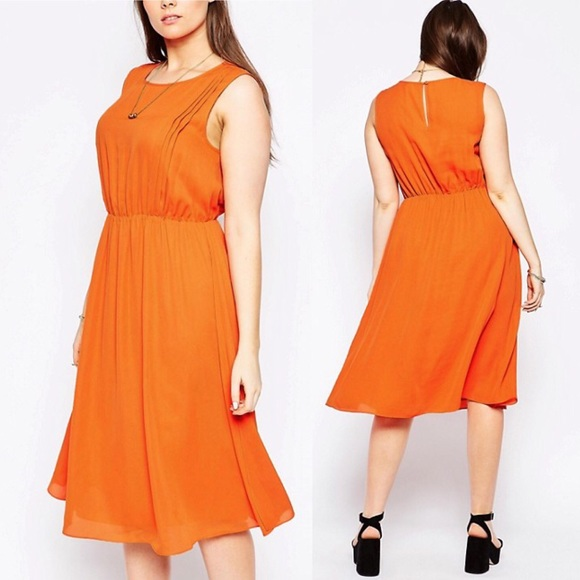 99f0959d1d34d ASOS Curve Dresses   Skirts - ASOS CURVE orange midi Dress